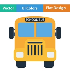 Flat design icon of School bus vector