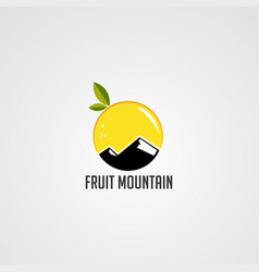 fruit mountain logo icon element and template vector image