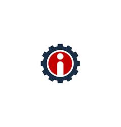 gear letter i logo icon design vector image