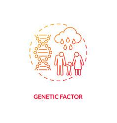 Genetic factor concept icon vector