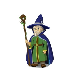 Gloomy Cartoon Wizard vector