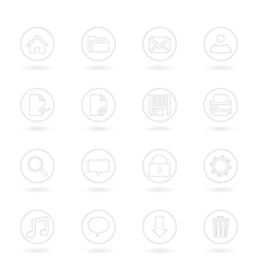 Gray Web Icons vector image