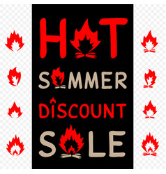 hot summer sale sign icon vector image