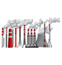 Industry factory industrial chimney vector