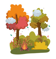 Isolated camp fire design vector