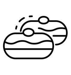 jewish bakery icon outline style vector image