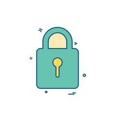 keyhole lock safe icon design vector image