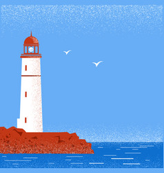 Lighthouse seascape horizon vector
