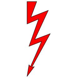 lightning symbol vector image
