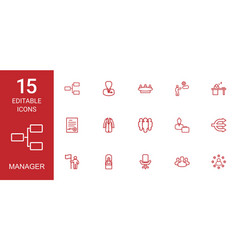 manager icons vector image