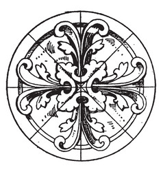 modern circular panel is a early gothic design vector image