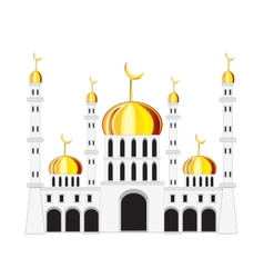 Mosque on white background vector