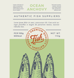 Ocean fish abstract packaging design vector