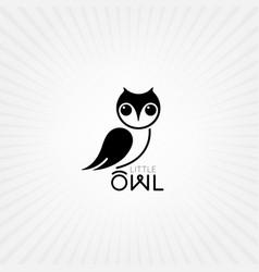 owl bird animal vector image