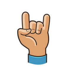 Party symbol or icon rock cool gesture hand vector