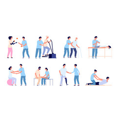 Physiotherapy medical treatment injuries vector