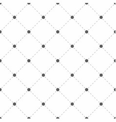 Polka dotted texture with rhombus geometric vector