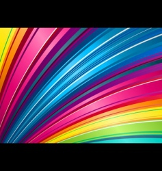 Rainbow fan background vector