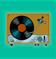 record player turntable pop art vector image