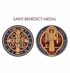 Saint benedict medal vector
