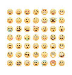 set of emoticons emoji isolated on white vector image