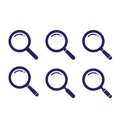 set search icon vector image