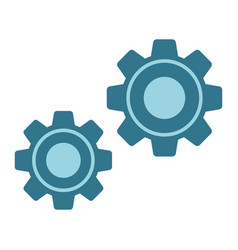 Settings flat icon cogwheels and website vector