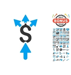 Share Payment Icon With 2017 Year Bonus Symbols vector