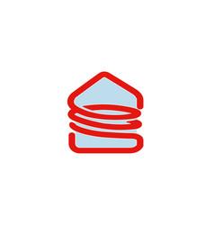 spiral house logo vector image