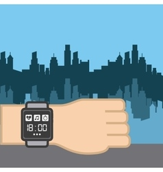 Sport smart watch icon vector