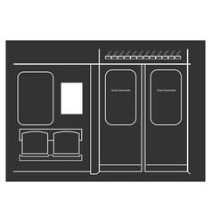 Subway train interior vector