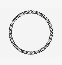texture chain round frame circle border chains vector image