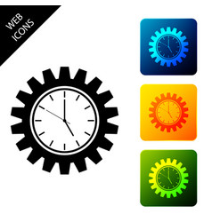 time management icon isolated on white background vector image