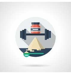Workout supplements detailed color icon vector