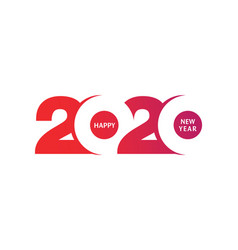 year 2020 logo type design vector image