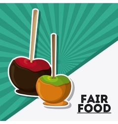 apple fair food snack carnival icon vector image vector image