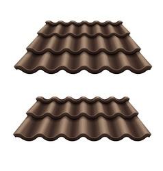 Dark chocolate corrugated vector image vector image