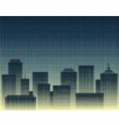 halftone city vector image vector image