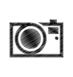 hand draw black photograpic camera vector image