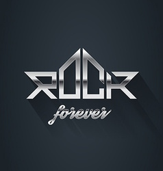 Rock Music forever - metal logo emblem label badge vector image