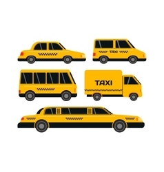 Taxi transport set vector image