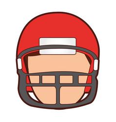 american football player avatar vector image vector image