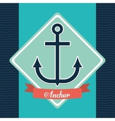 anchor icon Sea lifestyle design graphic vector image
