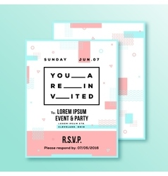 Event Party Wedding Invitation Card or Poster vector image