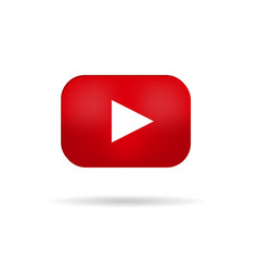 play online video red button vector image