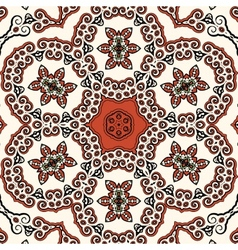 Seamless oriental liginoru motif Mandala vector image
