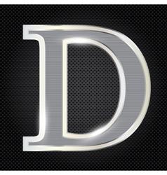 Silver metallic fonts vector image vector image