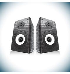 Two audio speakers vector image