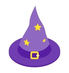 Witch hat isometric 3d icon vector image