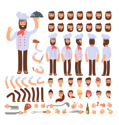 cartoon chef animated creation character vector image